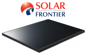 Solar Frontier zonnepaneel met logo