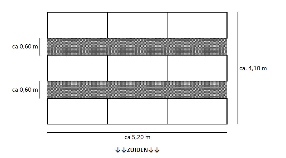 Poly kristallijne zonnepanelen oost west opstelling schematisch