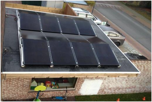 Solar Frontier oost west opstelling op dak