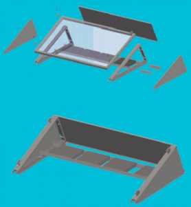 Solarstell plat dak opstelling
