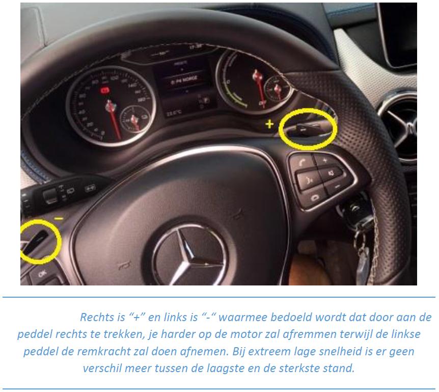 Mercedes Benz B-klasse Electric Drive_recensie_regeneratiemodus